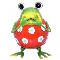 Spardose Frosch Rot